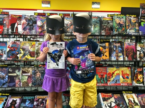 A Geeky Dad: Dad and kids date to celebrate Batman Day