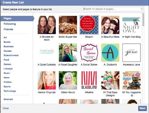 create FB lists 4