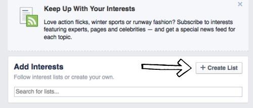 how to create FB list 3