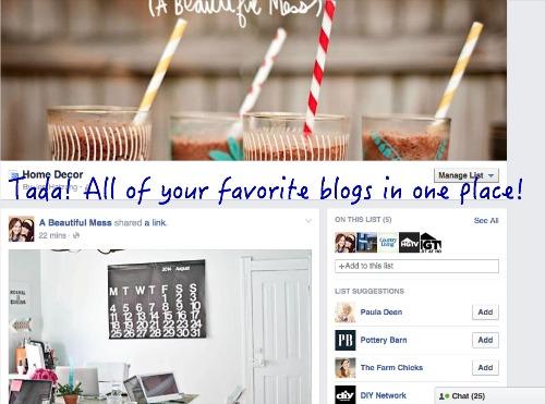 how to make FB lists 6