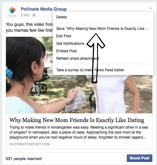 how to save FB posts 1