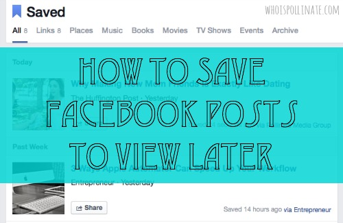 how to save FB posts