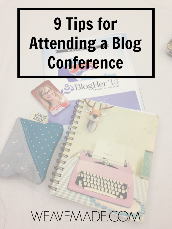 Tips for attending a blog conference